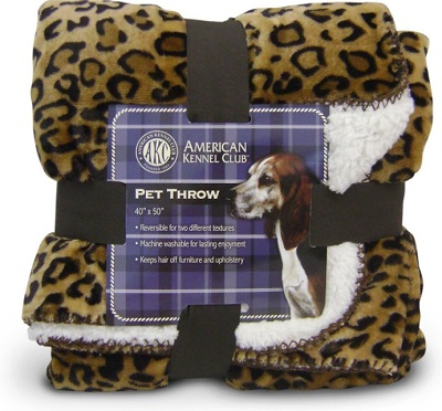American Kennel Club Animal Print Blanket