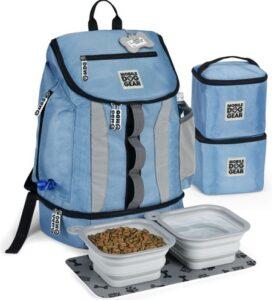 Mobile Dog Gear Drop Bottom Weekender Backpack Pet Travel Bag