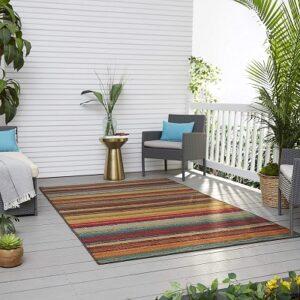 Mohawk Home Avenue Stripes Indoor Outdoor Rug