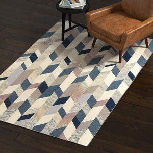 Rivet Modern Geometric Wool Area Rug
